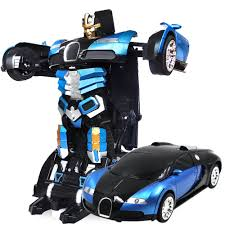 TROOPERS SAVAGE Transformer Radio Control Deform Robot (Blue) TT663