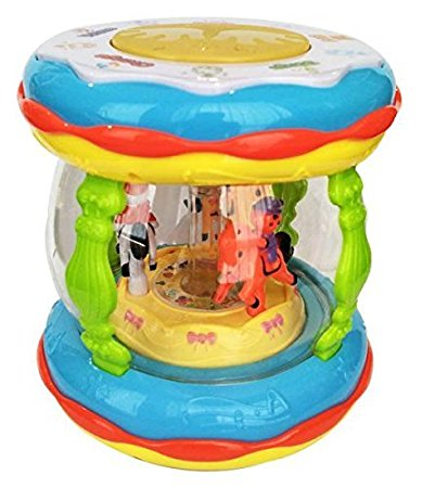 Wonder Land Merry-Go-Round Musical Drum