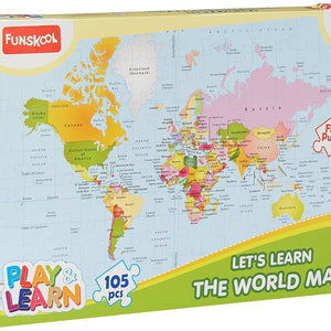 Funskool World Map Puzzles,9421000
