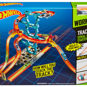 Hot Wheels Track Builder Spiral Stack Up Track Set, CHX36