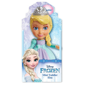 Jakks Pacific Disney Frozen Elsa Poseable Sparkle Collection Mini Toddler Doll 3.5""