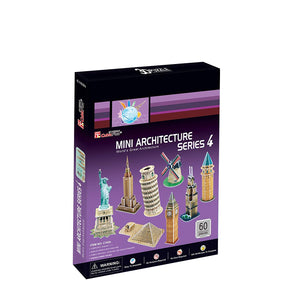 Cubicfun 3D Puzzle - C Series Mini Architecture Series 4, Multi Color C102H