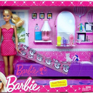 Barbie Sweet Bedroom Set with Doll