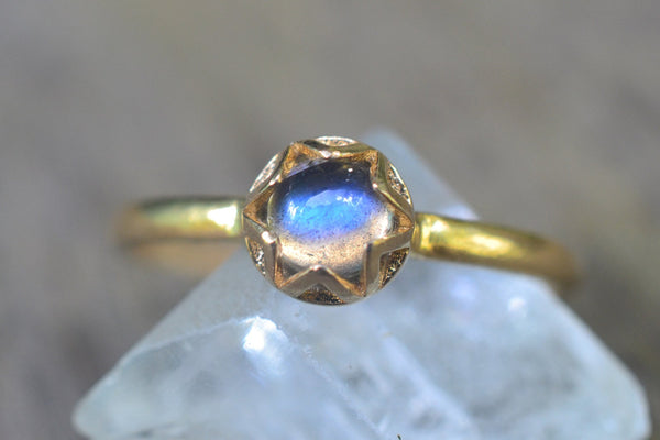 14K Gold Gemstone Engagement Rings