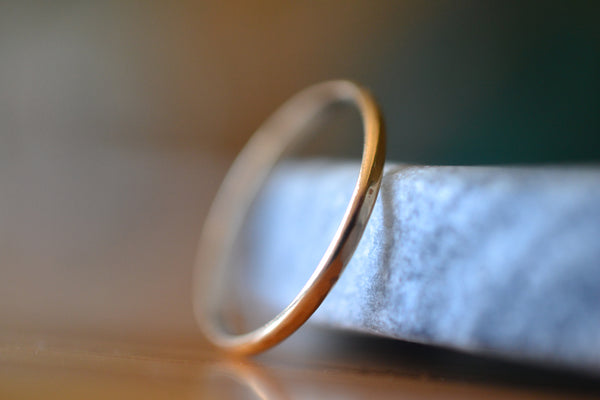 Minimalist Hammered 10ct Yellow Gold Promise Band