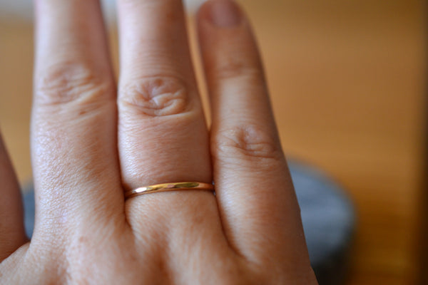 Minimalist Simple 10ct Yellow Gold Promise Ring For Women
