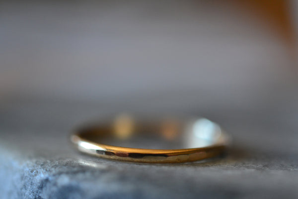 Ladies Dainty Plain 10ct Yellow Gold Ring