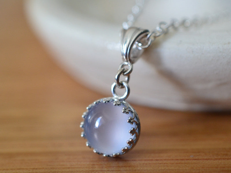 Handmade Sterling Silver & Blue Chalcedony Necklace