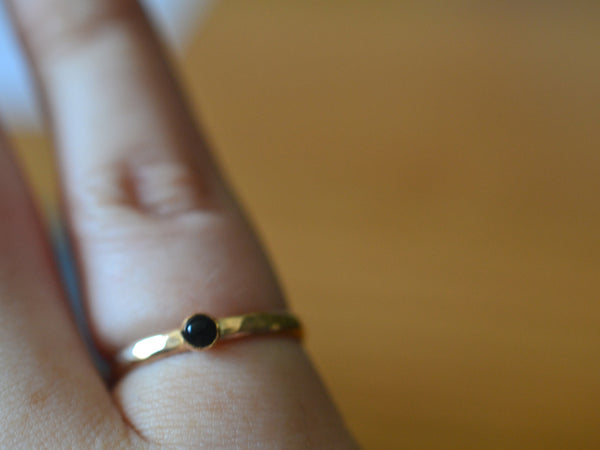 Handmade 14K Gold Black Onyx Ring