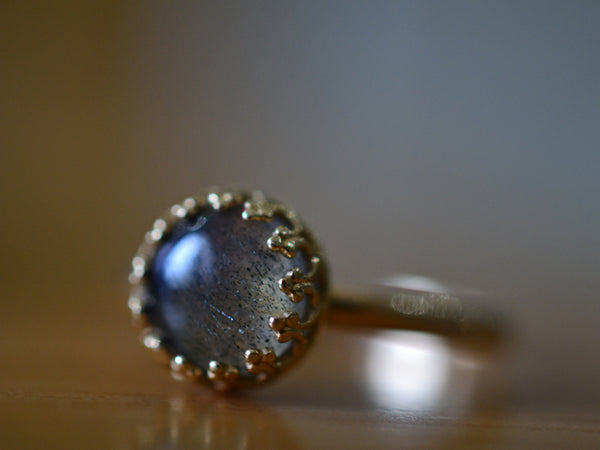 Women's Labradorite Ring in Recycled 14K Yellow Gold