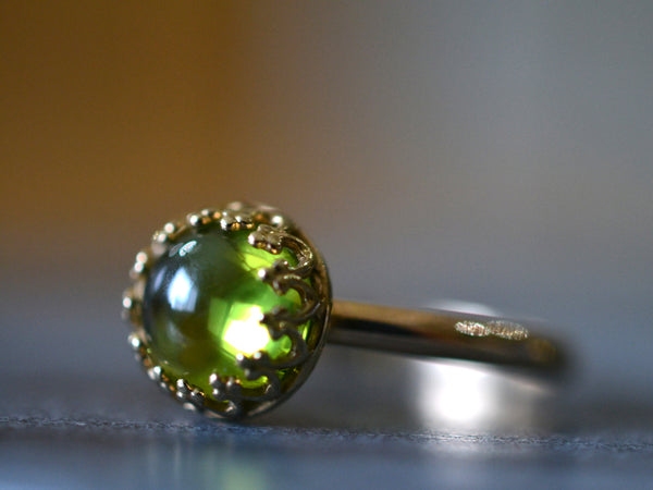 Peridot Engagement Ring in 14ct Yellow Gold