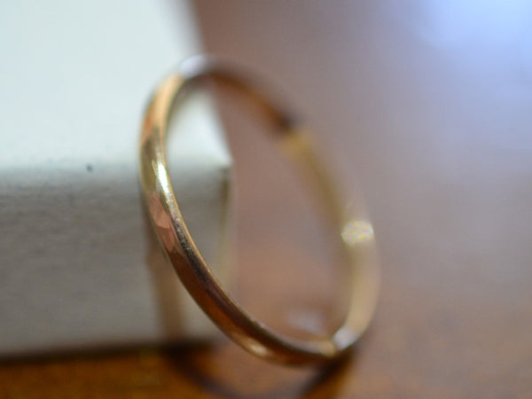 Handmade 14K Yellow Gold Wedding Ring