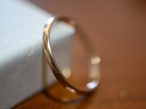 Dainty 14K Yellow Gold Wedding Band for Women