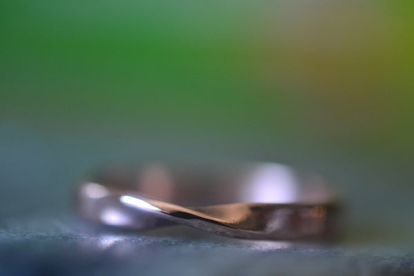 Eco Friendly Recycled 14K Rose Gold Mobius Wedding Ring