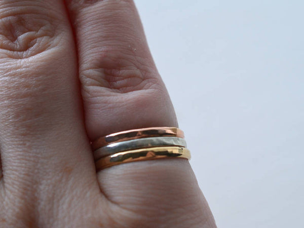 14K Rose Gold Stacking Ring