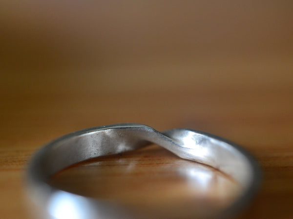 Handmade 14ct White Gold Mobius Band