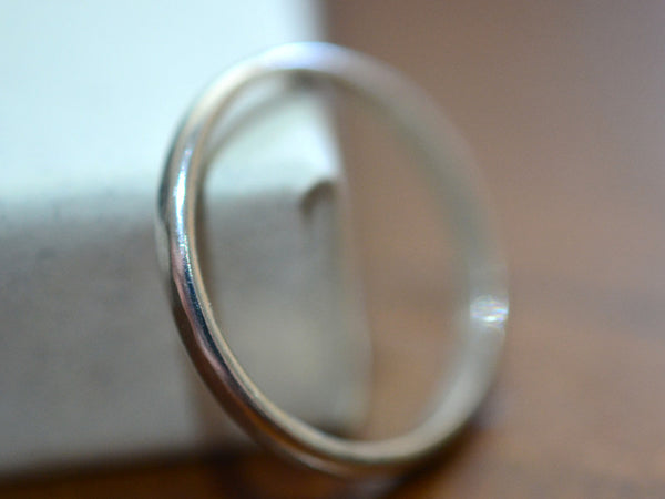 Handmade 14K White Gold Wedding Band