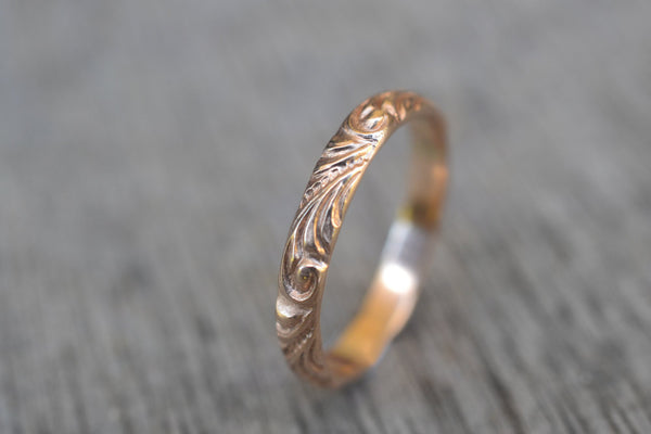 Women's 14K Yellow Gold Baroque Wedding Band