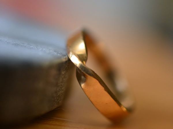 Personalised 14ct Yellow Gold Mobius Wedding Band