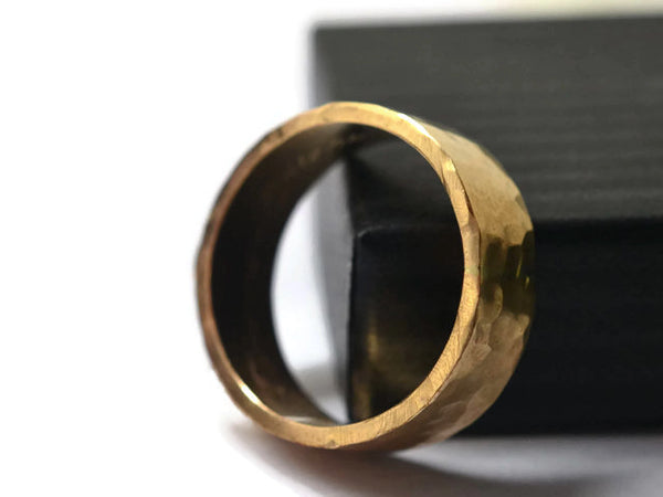 Men's Ethical Recycled 6mm Wide 14K Yellow Gold Wedding Band