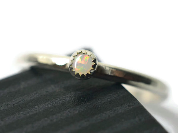 Tiny Coober Pedy Opal Ring