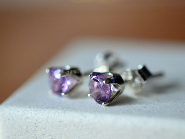 5mm Brazilian Amethyst Stud Earrings in Sterling Silver
