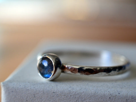 Handmade Sterling Silver & Labradorite Engagement Ring