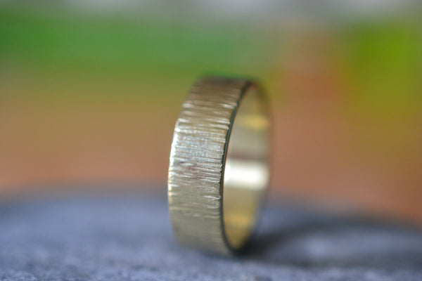 Personalised Male Marriage Band in 14K Yellow Gold