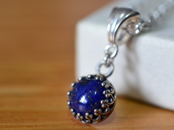 Handmade Sterling Silver & Lapis Lazuli Necklace