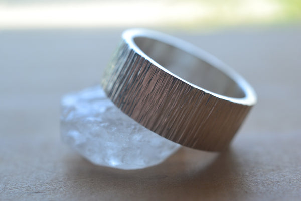 Hammered Sterling Silver Handfasting Ring