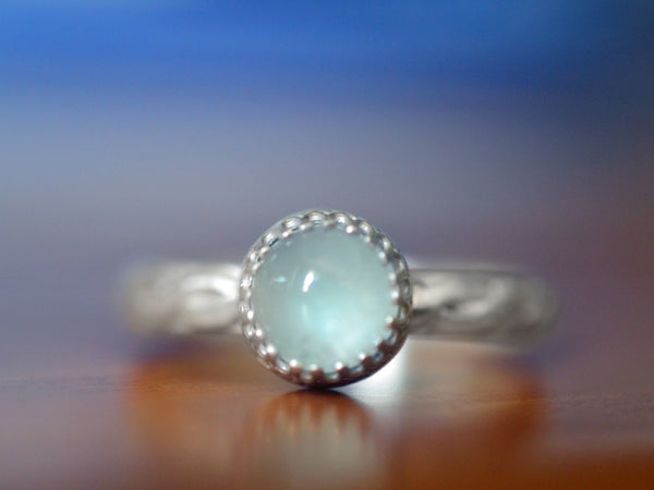 Personalised Silver Celtic Braid Aquamarine Engagement Ring