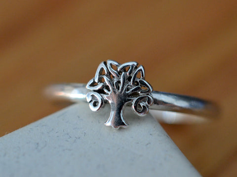 Handmade Sterling Silver Celtic Tree Ring