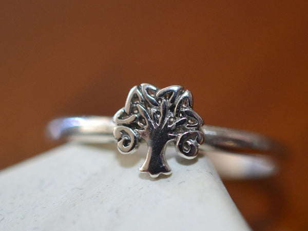 Handmade Sterling Silver Celtic Tree of Life Ring