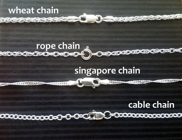 Sterling Silver Chain Choices