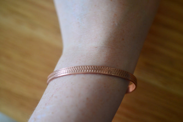 Women's Pure Copper Cuff with Crown Pattern