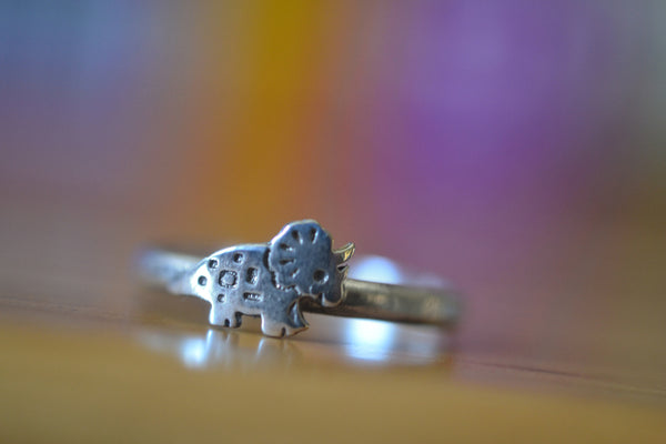 Personalised Sterling Silver Dinosaur Ring For Women