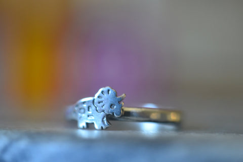 Cute Little Dinosaur Ring in Sterling Silver