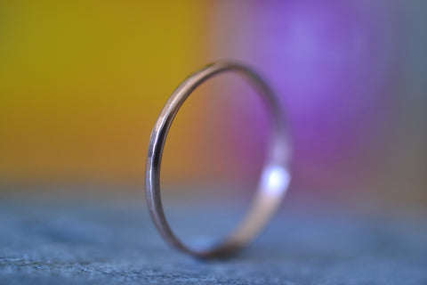 Dainty 1.5mm 10K Rose Gold Stacking Ring For Women