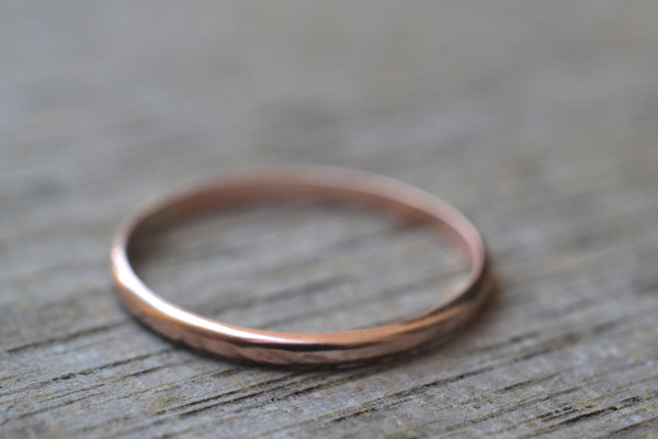 Simple Little 10K Rose Gold Ring For Women