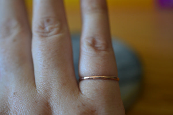 Dainty Little 1.5mm Thin Stacking Band in 10K Rose Gold