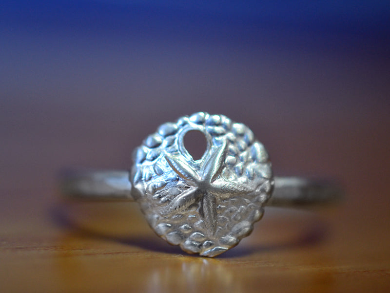 Dainty Sterling Silver Sand Dollar Ring