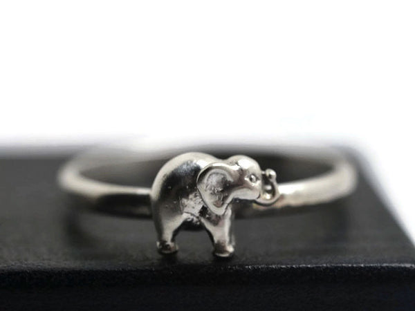 Handmade Sterling Silver Elephant Ring