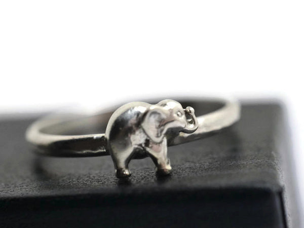 Personalised Sterling Silver Elephant Ring