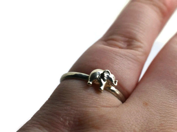 Customised Sterling Silver Elephant Ring