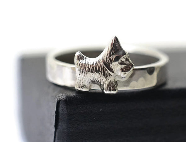 Handmade Sterling Silver Scottie Dog Ring