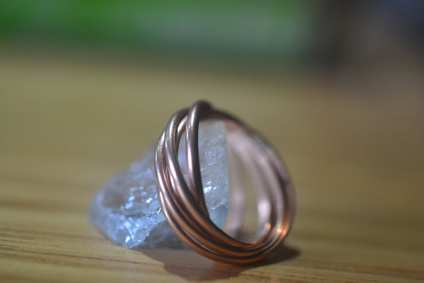 Set of 5 Interlocking 14K Rose Gold Bands