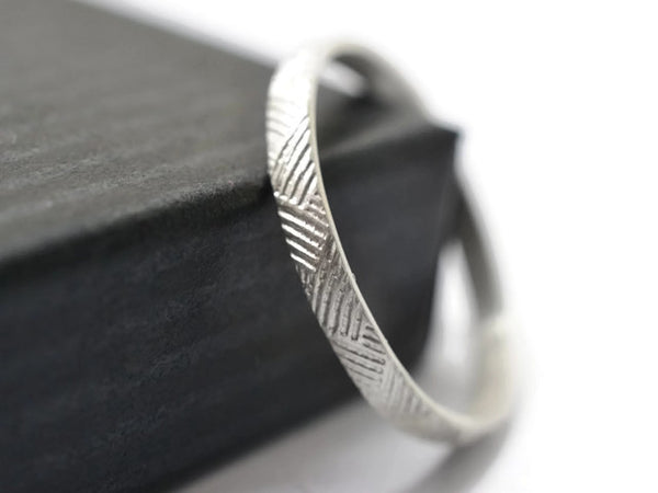 Handmade Sterling Silver Weave Pattern Ring