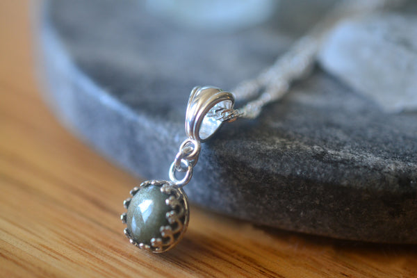 Natural Golden Obsidian Crystal Pendant With Silver Chain