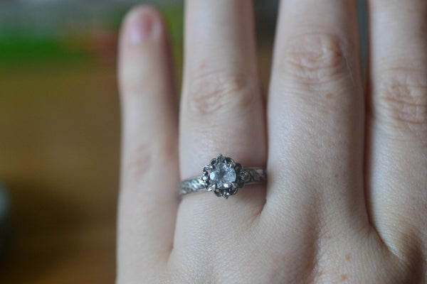 Women's Multi Stone White Topaz Engagement Ring