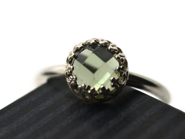 Minimalist Green Spinel Engagement Ring